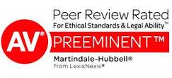 AV Preeminent - Peer Review Rated